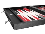 picture of Wycliffe Brothers® Tournament Backgammon Set - Black with Grey Field - Gen I (5 of 12)