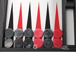 picture of Wycliffe Brothers® Tournament Backgammon Set - Black-Grey (7 of 12)