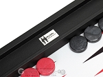picture of Wycliffe Brothers Tournament Backgammon Set - Black-Grey (8 of 12)
