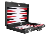 picture of Wycliffe Brothers® Tournament Backgammon Set - Black with Grey Field - Gen I (10 of 12)