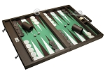 picture of Wycliffe Brothers Tournament Backgammon Set - Brown-Green (2 of 12)