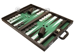 picture of Wycliffe Brothers Tournament Backgammon Set - Brown-Green (3 of 12)