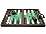 picture of Wycliffe Brothers Tournament Backgammon Set - Brown-Green (4 of 12)