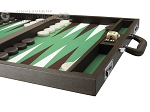 picture of Wycliffe Brothers Tournament Backgammon Set - Brown-Green (6 of 12)