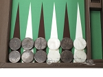 picture of Wycliffe Brothers Tournament Backgammon Set - Brown-Green (7 of 12)