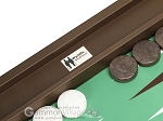picture of Wycliffe Brothers Tournament Backgammon Set - Brown-Green (8 of 12)