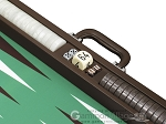 picture of Wycliffe Brothers Tournament Backgammon Set - Brown-Green (9 of 12)