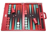 Wycliffe Brothers® Tournament Backgammon Set - Red Croco with Black Field - Gen I - Item: 2786