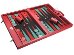 picture of Wycliffe Brothers® Tournament Backgammon Set - Red Croco with Black Field - Gen I (2 of 12)
