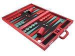 picture of Wycliffe Brothers Tournament Backgammon Set - Red Croco (3 of 12)