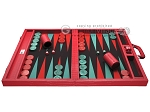 picture of Wycliffe Brothers® Tournament Backgammon Set - Red Croco with Black Field - Gen I (4 of 12)