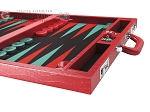 picture of Wycliffe Brothers® Tournament Backgammon Set - Red Croco with Black Field - Gen I (6 of 12)