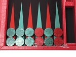 picture of Wycliffe Brothers Tournament Backgammon Set - Red Croco (7 of 12)