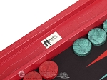 picture of Wycliffe Brothers® Tournament Backgammon Set - Red Croco with Black Field - Gen I (8 of 12)