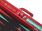 picture of Wycliffe Brothers® Tournament Backgammon Set - Red Croco with Black Field - Gen I (9 of 12)
