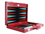 picture of Wycliffe Brothers® Tournament Backgammon Set - Red Croco with Black Field - Gen I (10 of 12)
