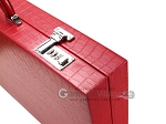 picture of Wycliffe Brothers® Tournament Backgammon Set - Red Croco with Black Field - Gen I (12 of 12)