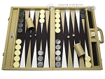 Wycliffe Brothers® Tournament Backgammon Set - Beige with Black Field - Gen I
