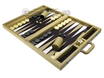 picture of Wycliffe Brothers® Tournament Backgammon Set - Beige with Black Field - Gen I (3 of 12)