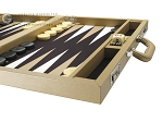 picture of Wycliffe Brothers® Tournament Backgammon Set - Beige with Black Field - Gen I (6 of 12)