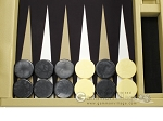 picture of Wycliffe Brothers® Tournament Backgammon Set - Beige with Black Field - Gen I (7 of 12)