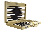 picture of Wycliffe Brothers® Tournament Backgammon Set - Beige with Black Field - Gen I (10 of 12)