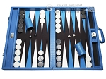 Wycliffe Brothers® Tournament Backgammon Set - Turquoise Croco with Black Field - Gen I - Item: 2788