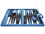 picture of Wycliffe Brothers® Tournament Backgammon Set - Turquoise Croco with Black Field - Gen I (4 of 12)