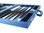 picture of Wycliffe Brothers® Tournament Backgammon Set - Turquoise Croco with Black Field - Gen I (6 of 12)