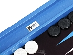 picture of Wycliffe Brothers® Tournament Backgammon Set - Turquoise Croco with Black Field - Gen I (8 of 12)