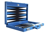 picture of Wycliffe Brothers® Tournament Backgammon Set - Turquoise Croco with Black Field - Gen I (10 of 12)