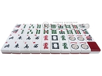 picture of White Swan Mah Jongg - White/Burgundy Tiles - Classic Pusher Arms - Aluminum Case - Silver (11 of 12)