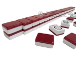 Mah Jong Tiles - White with Burgundy Back - 166 Tiles + 2 Black Trays - Item: 3071