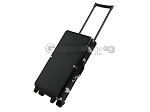 Large Empty Wheeled Rounded Aluminum Mah Jong Case - Black - Item: 3043