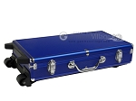 picture of Large Empty Wheeled Rounded Aluminum Mah Jong Case (fits pushers) - Blue (4 of 5)