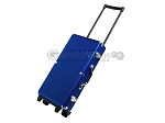 Large Empty Wheeled Rounded Aluminum Mah Jong Case (fits pushers) - Blue - Item: 3044