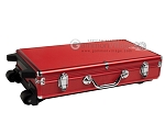 picture of Large Empty Wheeled Rounded Aluminum Mah Jong Case (fits pushers) - Red (4 of 5)