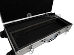picture of Large Empty Wheeled Rounded Aluminum Mah Jong Case (fits pushers) - Silver (3 of 5)