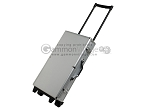 Large Empty Wheeled Rounded Aluminum Mah Jong Case - Silver - Item: 3045