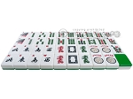 picture of Mah Jong Tiles - White with Green Back - 166 Tiles + 2 Black Trays (3 of 5)