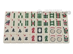 picture of White Swan Mah Jongg - Ivory Tiles - Modern Pusher Arms - Wheeled Aluminum Case - Blue (11 of 12)
