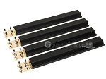 Mah Jong Tile Racks - Wood - Black - Set of 4