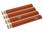 Mah Jong Tile Racks - Wood - Mahogany - Set of 4