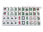 picture of Mah Jong Tiles - White with Blue Back - 166 Tiles + 2 Black Trays (1 of 5)