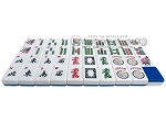 picture of Mah Jong Tiles - White with Blue Back - 166 Tiles + 2 Black Trays (3 of 5)