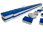 Mah Jong Tiles - White with Blue Back - 166 Tiles + 2 Black Trays - Item: 3070