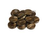 Backgammon Checkers - Pearled Acrylic - Chocolate (1 3/16 in. Dia.) - Roll of 15