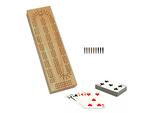 3 Track Cribbage Box - with cards - Item: 4097