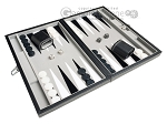 picture of 15-inch Leatherette Travel Backgammon Set - Inlaid Velvet Field (2 of 11)