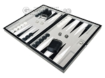 picture of 15-inch Leatherette Travel Backgammon Set - Inlaid Velvet Field (3 of 11)